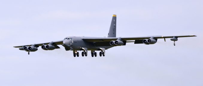 A B52H approaches RAF Fairford (Image: Aviation Media Agency)