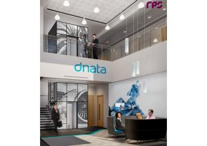 A render of the entrance to dnata City North