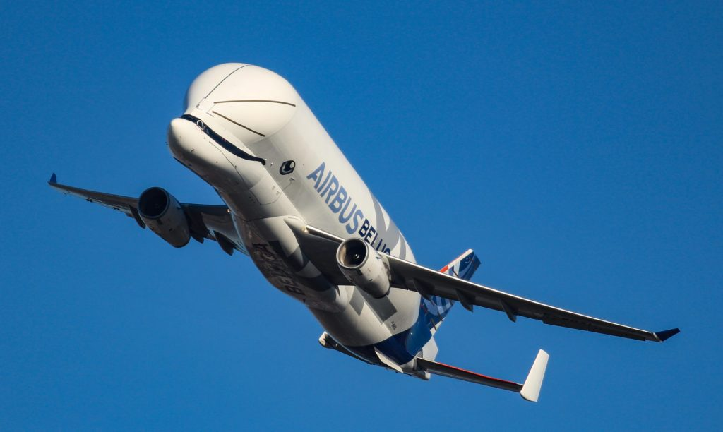 Airbus BelugaXL over Bristol (Image: Aviation Media Agency)