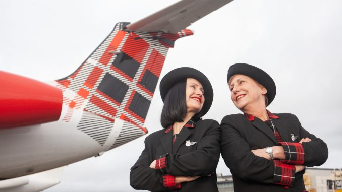 Michelle (left) and Laura (right) Cabin Crew