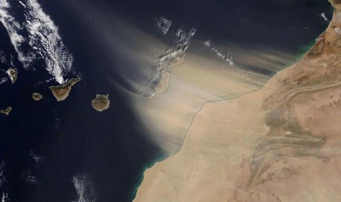 Canary Islands Sandstorm (Image: NASA)