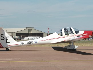 The Grob 109B motor glider, known by the RAF as the Vigilant T1, was used by the Air Cadet Organisation to give basic flying and gliding training to air cadets. (Image: OGL)
