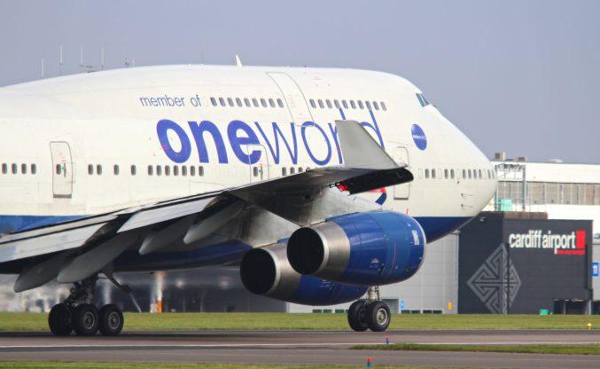 British Airways Boeing 747-400 Oneworld at Cardiff Airport (Image: Aviation Media Agency)