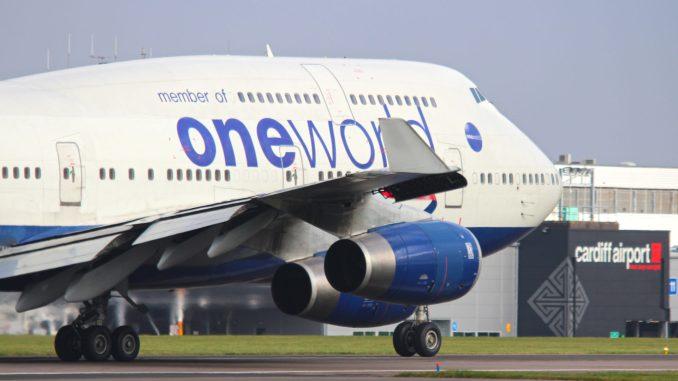 British Airways Boeing 747-400 G-CIVI Oneworld at Cardiff Airport (Image: Aviation Media Agency)