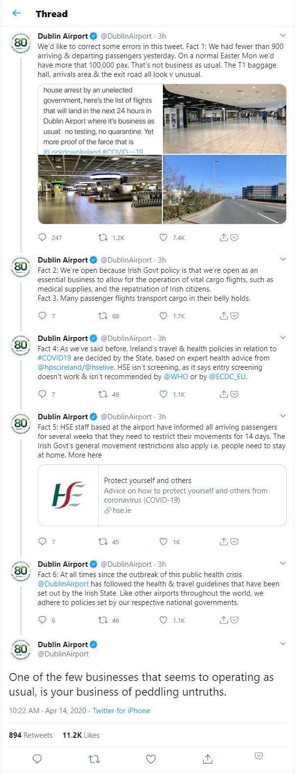 Dublin Airport response to Gemma O'Doherty