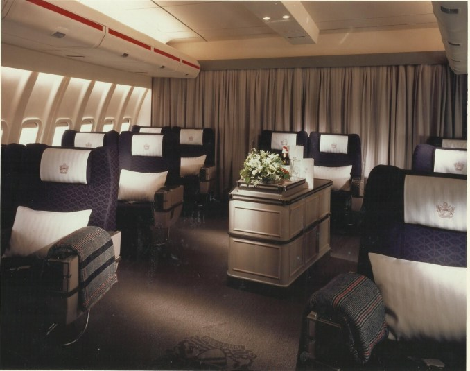 BOAC 747 cabin