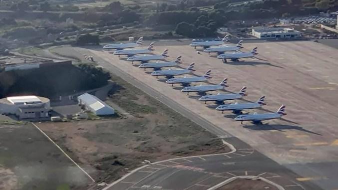 BA Airbus aircraft parked at Palma (Image: The Aviation Centre)