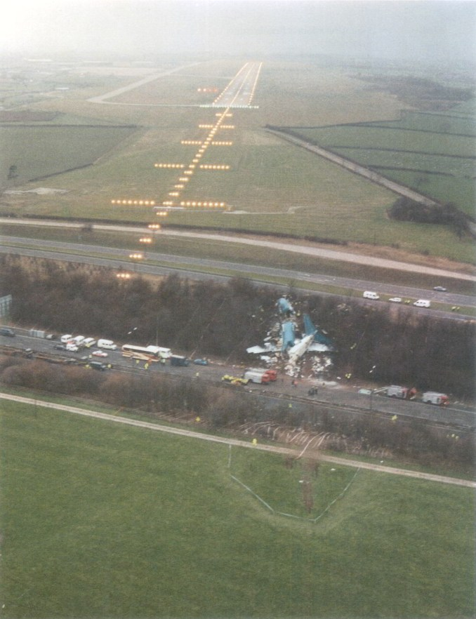 Aerial Photograph of crash site (Image AAIB/OGL)