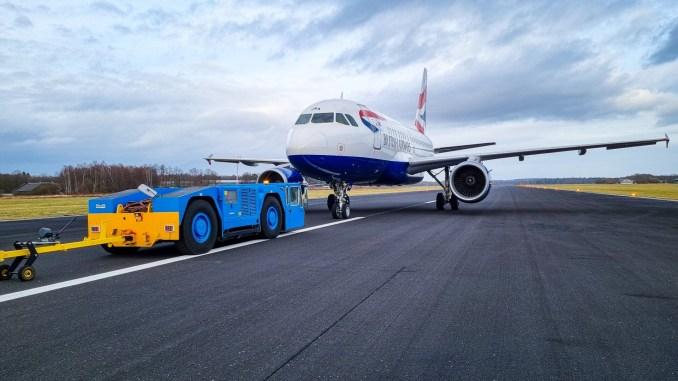 G-EUNA arrives at Twente Airport (Image: Twente Airport/Twitter)