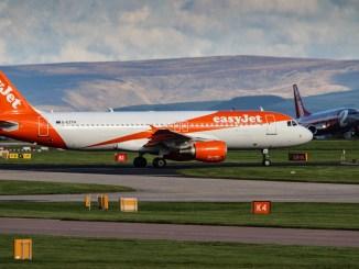 Easyjet Airbus at Manchester Airport (TransportMedia UK)
