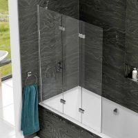 Kudos Inspire 3 Panel Bath Screen : UK Bathrooms