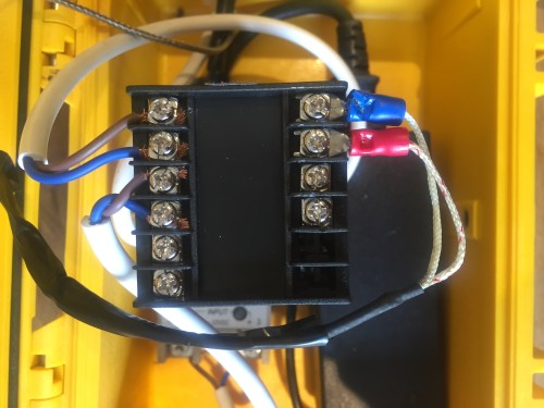 small resolution of the wiring on the back of my pid control