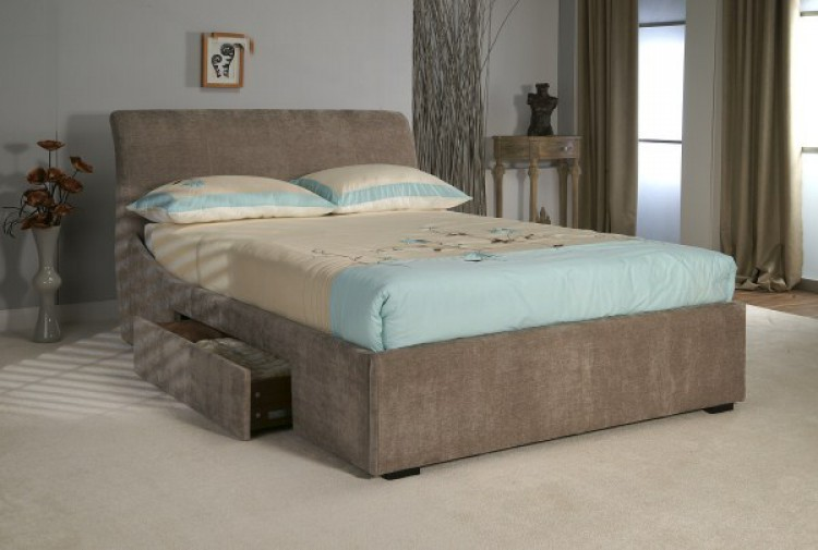 Limelight Oberon 4ft6 Double Mink Fabric Bed Frame With