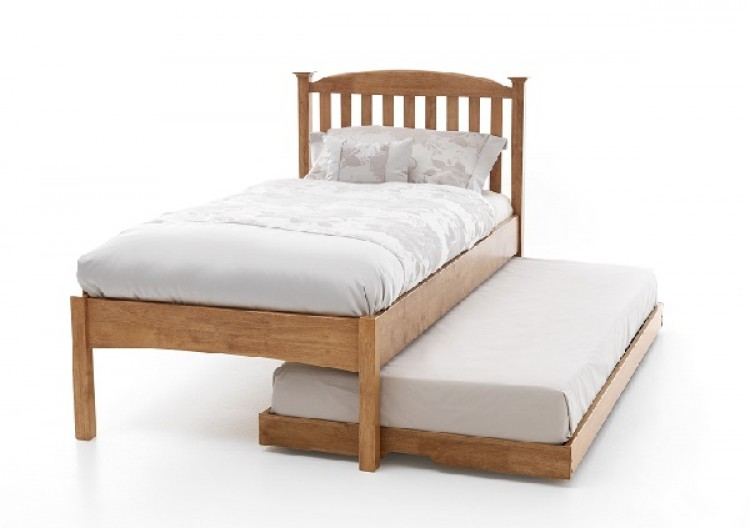 Serene Eleanor 3ft Single Oak Wooden Guest Bed Frame With