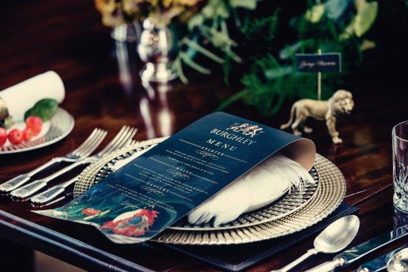 The logos of many stately homes are beautiful enough to be used on stationery like Burghley's.