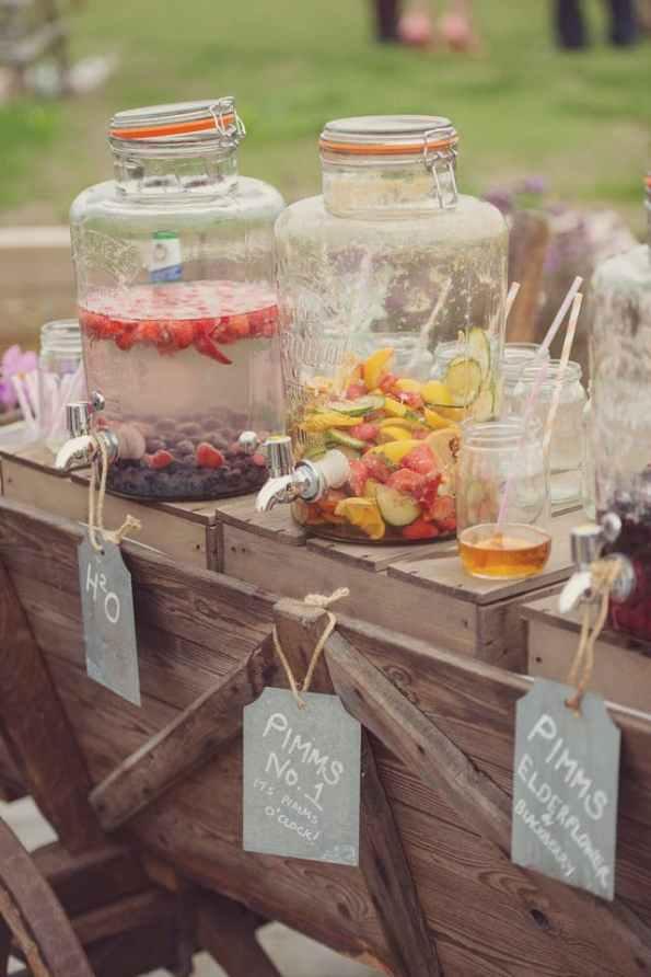 kilner drink dispenser, kilner jar, rustic wedding