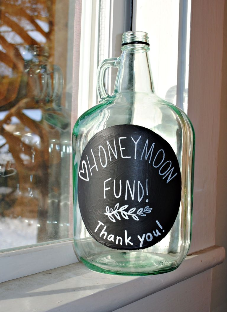 Honeymoon Fund Jar.