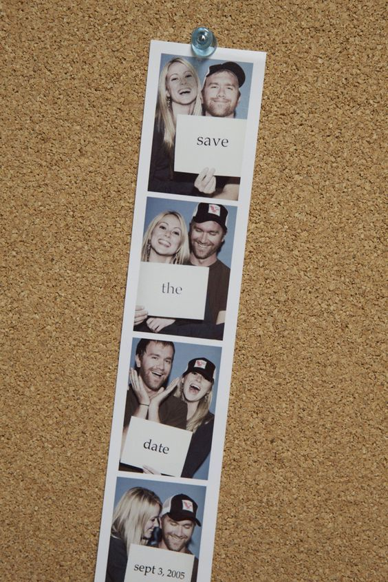 Save the Date Photo Booth Idea.