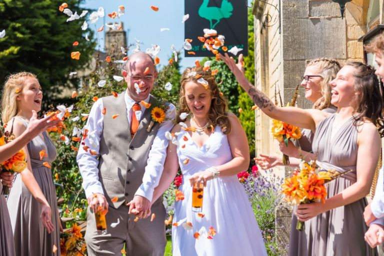 This is another wedding by J Seymour, filled with bright colours and beautiful skies up above. Wonderful work and a great confetti shot!