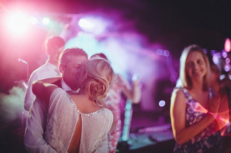 The illuminated newlyweds!