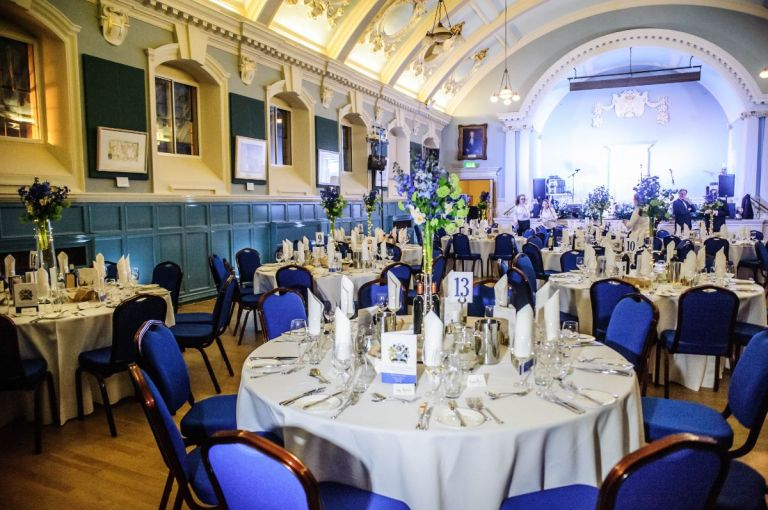 The grandeur of the reception room is what sells it for us!