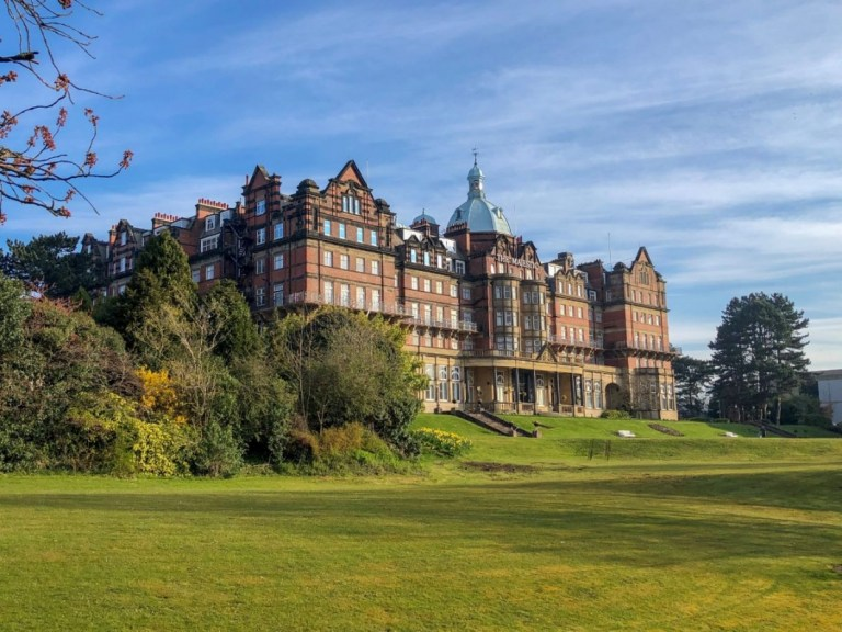 The beautiful Majestic Hotel with a view over its eight acres of landscaped gardens.