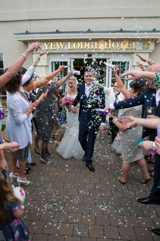 A wonderful confetti shot at a wonderful Derbyshire venue!