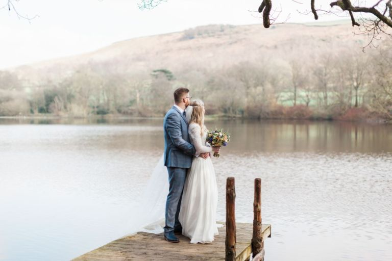 Rebecca and Chris at their beautiful wedding venue!