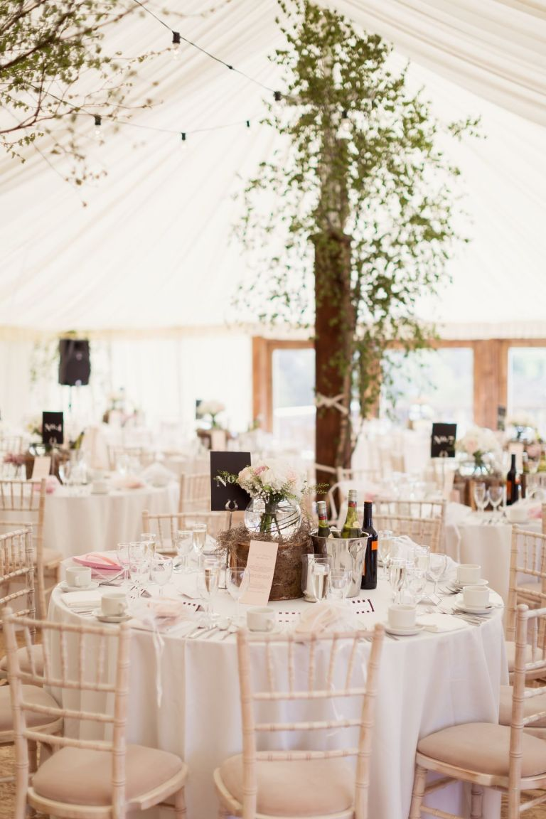 The couple opted for a marquee reception!