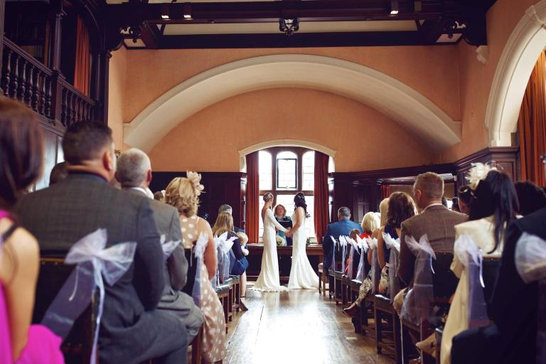 The venue is licensed for civil ceremonies and has stunning interiors!