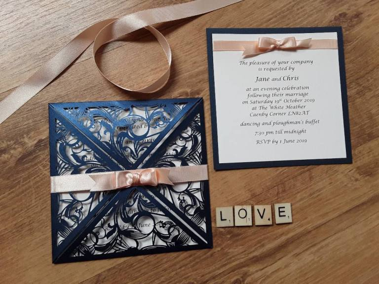 Handcrafted by Jo will design beautiful invites for you.