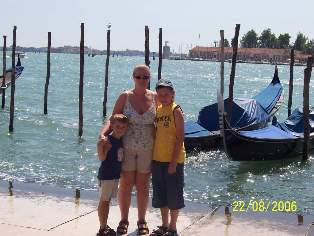 a mother & her sons in Venice