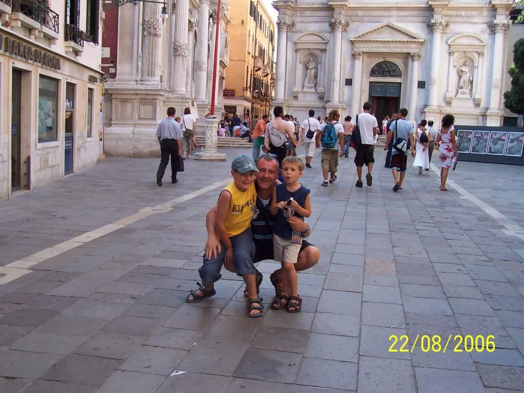 A dad & his sons at San Rocco, Venice