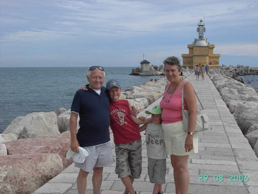 Four people at Punta Saboni