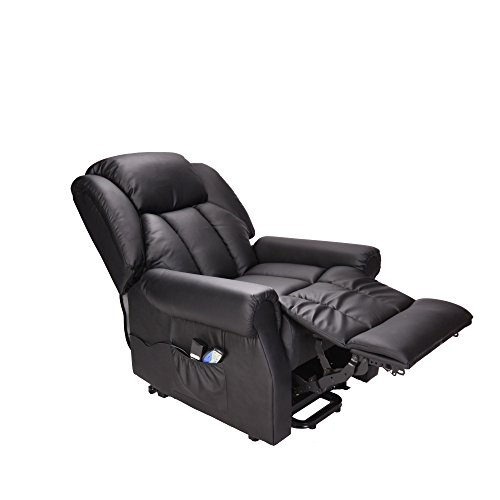 Hainworth Leather Electric recliner chair with heat and