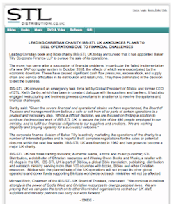 IBS-STL UK Announces Plans to Sell Operations