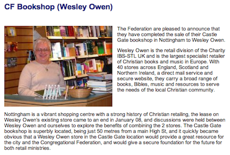 Screenshot: CF Bookshop - Wesley Owen, Nottingham