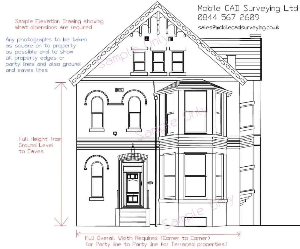 medium resolution of elevational drawings