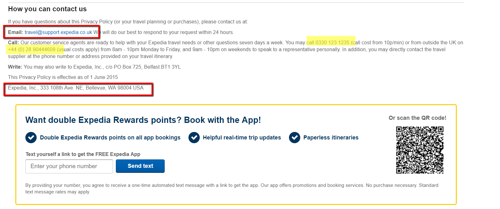 expedia uk customers contact