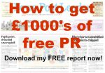 how to get free pr for your business