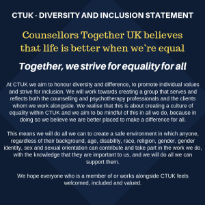 counsellors together UK diversity and inclusion statment