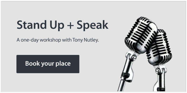 Stand Up + Speak with Tony Nutley