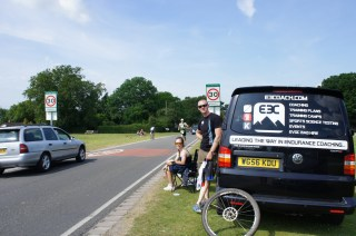 Providing support to clients while racing