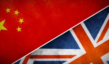 UK China Flags