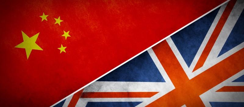 UK China Flags