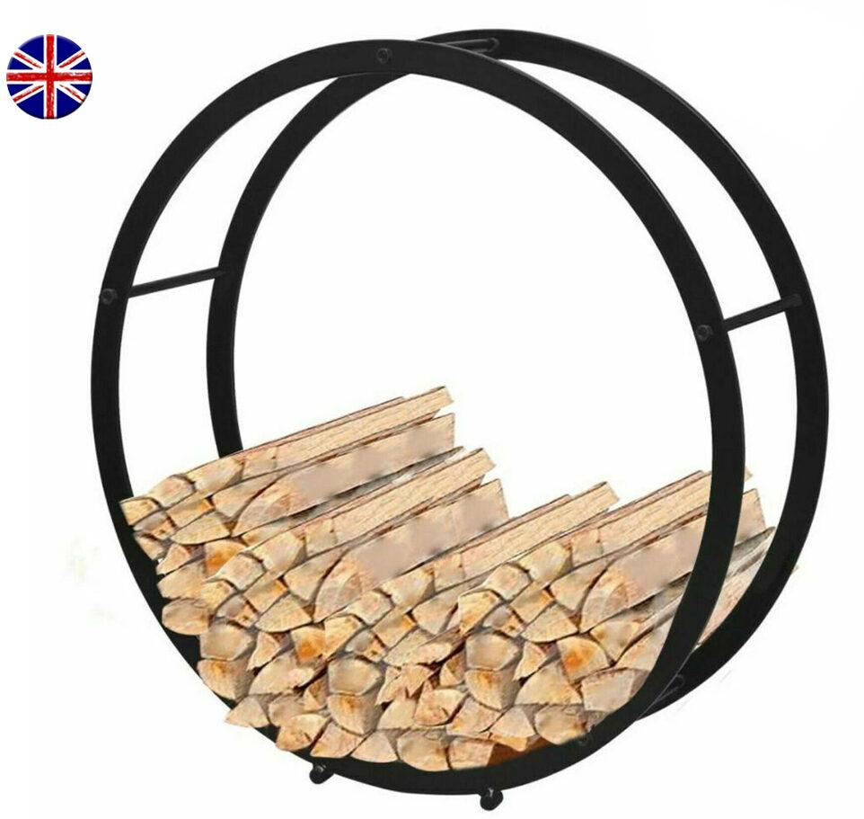 circular firewood storage rack