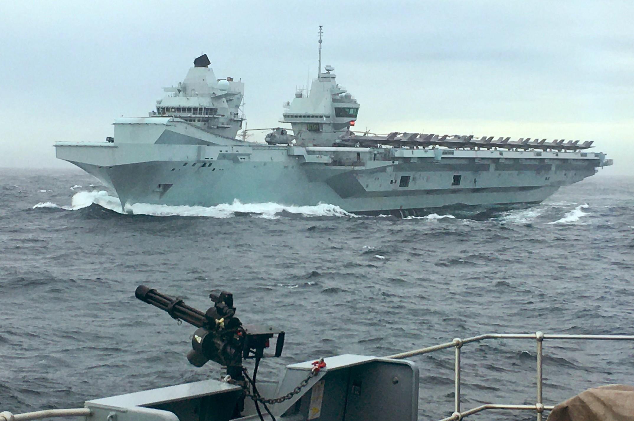 HMS Queen Elizabeth launches F-35Bs to 'intercept suspicious aircraft'