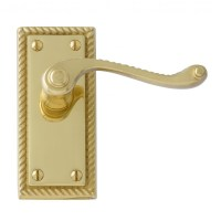 Interior Door Handles-Georgian polished brass internal ...