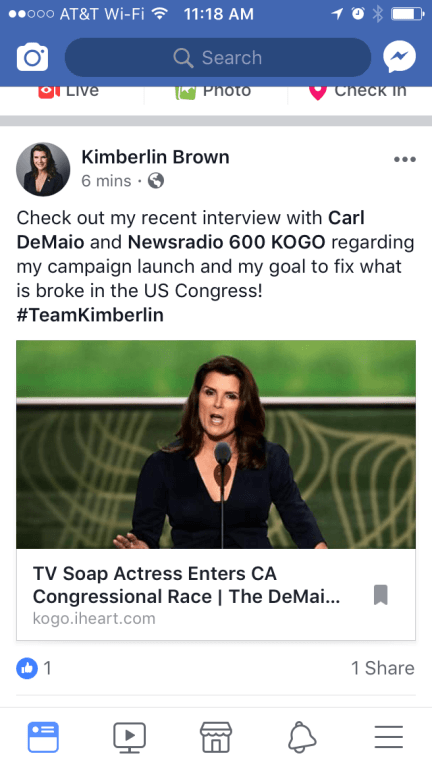 Soap Star's Candidacy Poses A Challenge