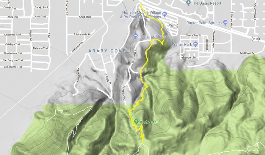 Araby Trail is Ideal for Day Hike in Palm Springs